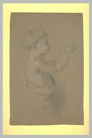 Petit garçon nu, de profil vers la droite : saint Jean-Baptiste