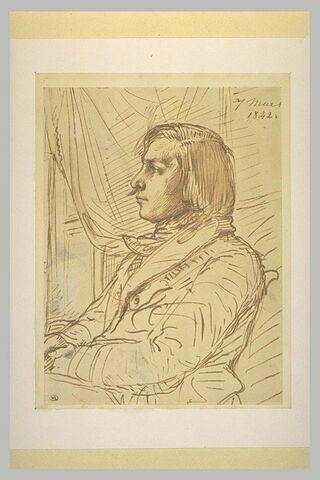 Portrait d'un jeune homme, en buste