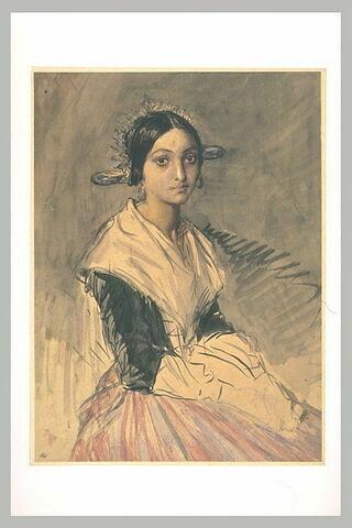 Jeune femme en costume régional