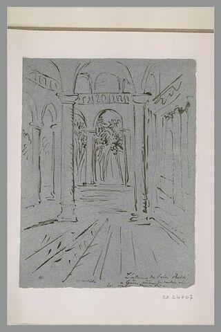 Cour intérieure du palais Balbi, à Gènes
