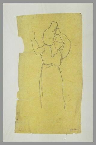 Femme, une cruche sur l'épaule
