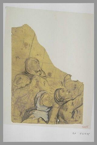 Trois femmes, vues en buste, tournées vers la droite