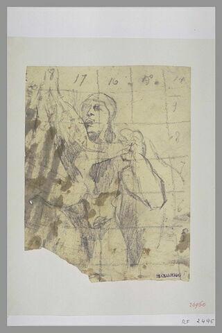 Soldat romain brandissant une étoffe
