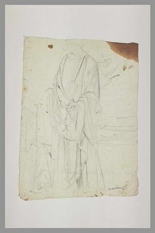 Religieux drapé et tenant un ciboire