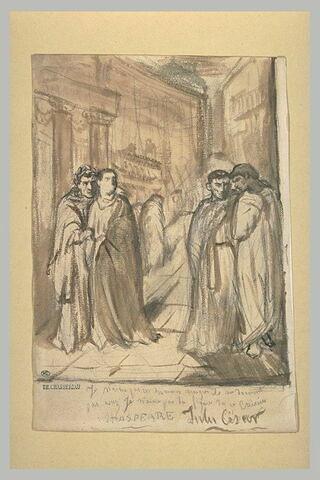 Jules César regardant Cassius