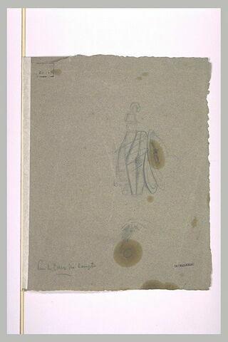 Glaive et boucliers, études de motifs antiques