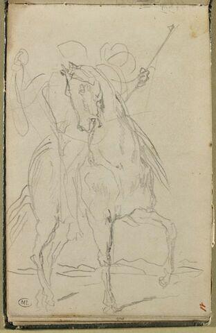 Cavalier, de trois quarts, à droite