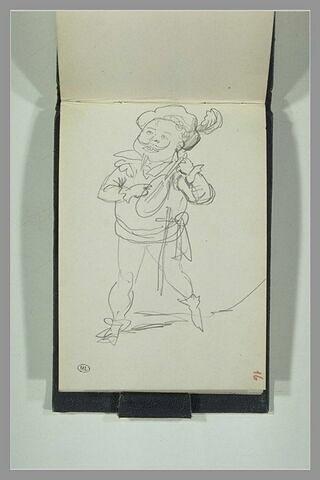 Un bouffon jouant du luth