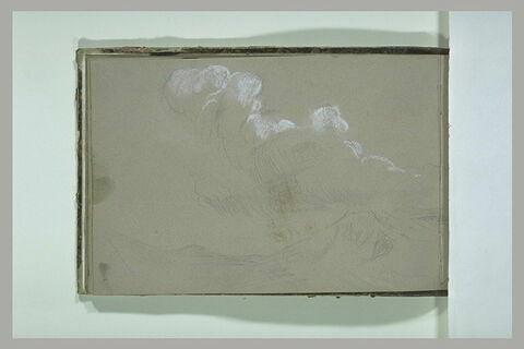 Paysage avec étude de nuages