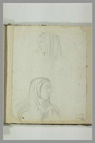 Deux têtes de femmes voilées
