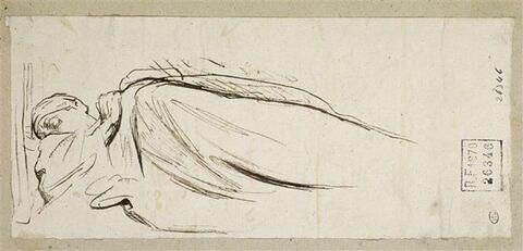 Figure drapée, endormie