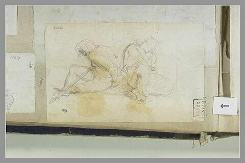 Deux prisonniers nus et enchaînés