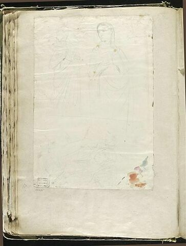 Etudes d'après deux sculptures, et un groupe de personnages, à Pise
