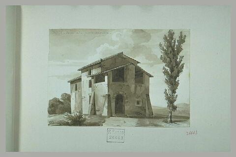 Maison dans la campagne romaine, près de la Porta Angelica