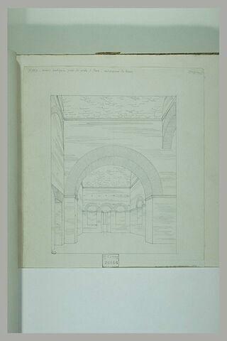 Rome : vue d'une salle dans une construction antique