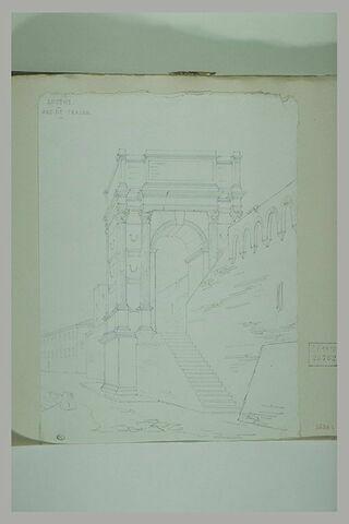 Ancône : vue de l'arc de Trajan