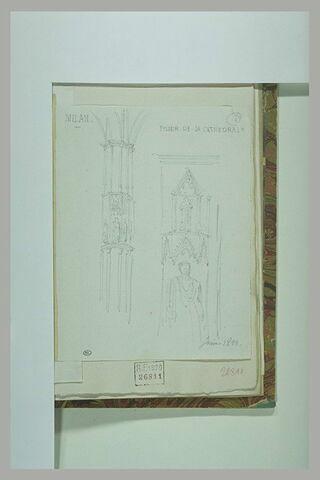 Milan : Duomo ; étude de pilier.