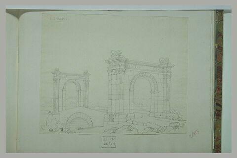Saint Chamas : pont avec arcs de triomphe aux extrémités
