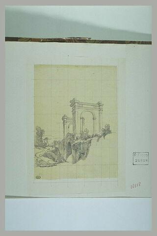Saint-Chamas : pont avec arcs de triomphe aux extrémités