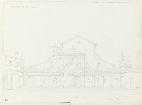 Civita Castellana : façade d'église