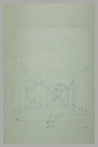 Narni : portique voûté