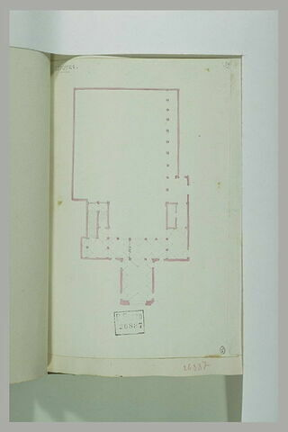 Lucques : plan d'un édifice