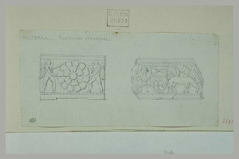 Volterra : deux études de tombeaux étrusques