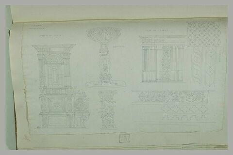 Sienne : stalles, bénitier, siège de l'évêque, mosaïque de la cathédrale
