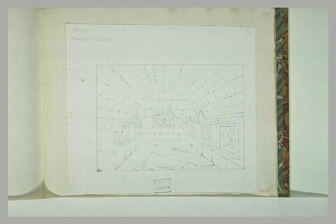 Chiusi : salle souterraine voûtée avec des tombeaux