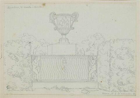 Vase sur un sarcophage antique
