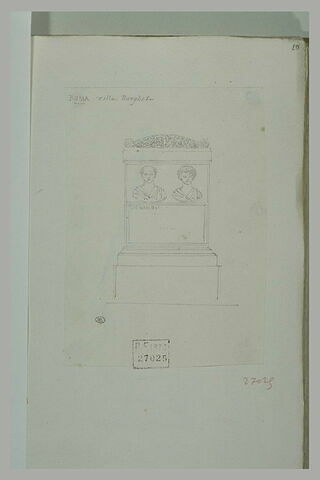 Stèle funéraire antique