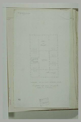 Plan de l'auberge de la Poste à Terracina, dernier étage