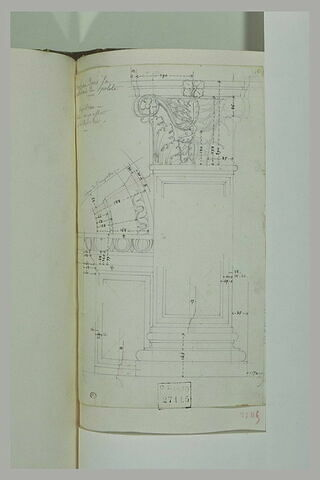 Etude d'arc et de pilastre d'un tombeau dans la cathédrale de Spolète