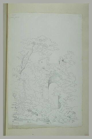 Cumes : ruines parmi des arbres