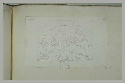 Amalfi : vue au travers d'un arc