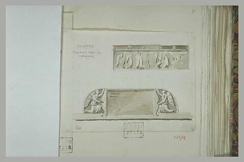Salerne : deux études de tombeau de la cathédrale