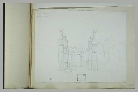 Paestum : vue du grand temple