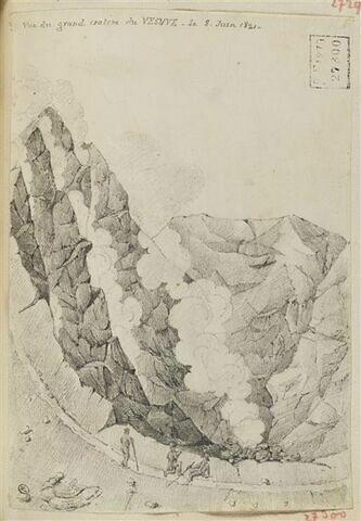 Le Vésuve : vue du grand cratère