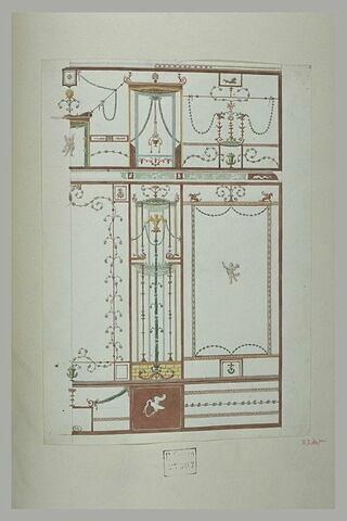 Pompei : relevé d'une peinture