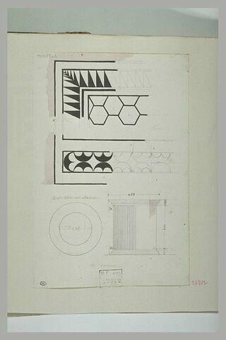 Pompéi : peinture ou pavement, diamètre d'un puits et cannelures