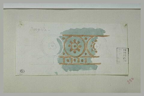 Pompéi : relevé de peinture