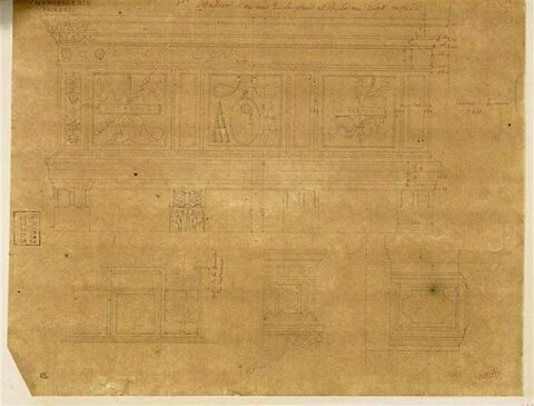 Façades et ornements des façades du Palais de la Chancellerie, Rome