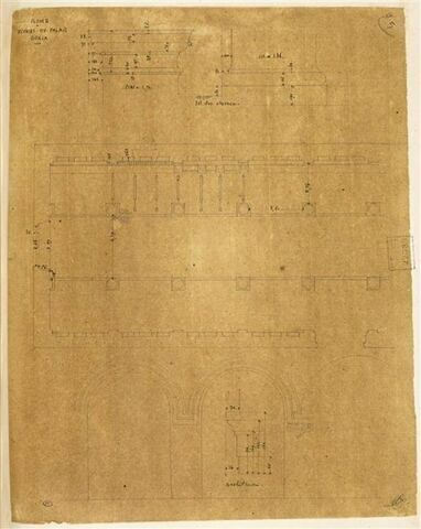 Relevés pris au Palais Doria, Rome