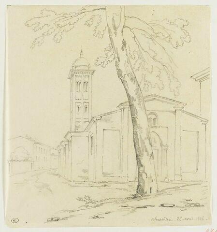 Place avec une église, à Alexandrie