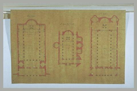 Rome : plan de Saint-Chrysogone, Sainte-Agnès-hors-les-murs, Sainte-Cécile