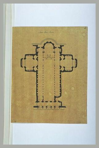 Rome : plan de l'église Sainte-Marie Majeure