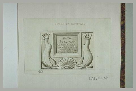 Rome : inscription antique du musée du Capitole
