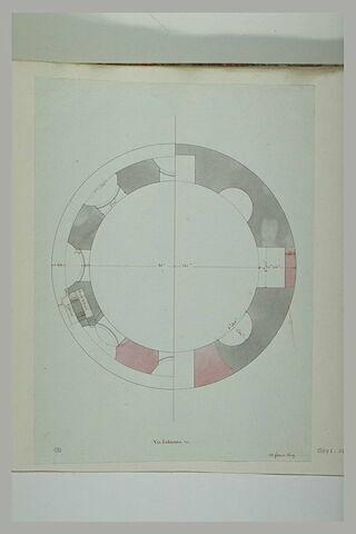 Rome : plan d'un édifice via Labicana