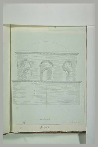 Rome : façade d'un édifice via Labicana