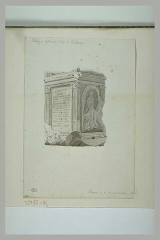 Rome : autel antique du Palais Albani